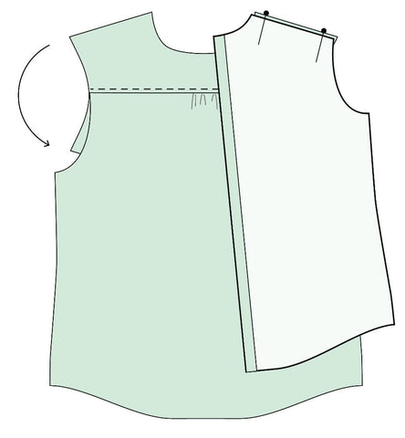 how to sew a shirt yoke tutorial