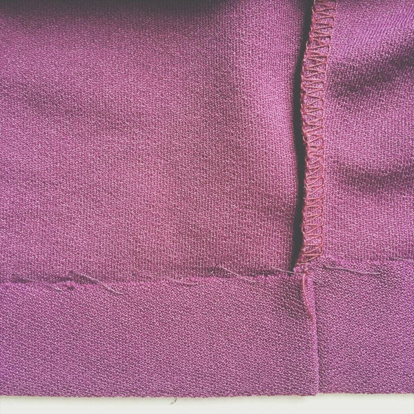 blind hem on knit fabric - sewing knits by hand