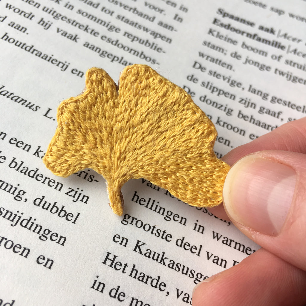 Online Embroidery Class: Ginkgo Brooch