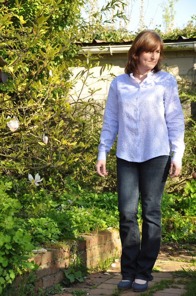 PDF Sewing Pattern - PDF Sewing Pattern - Garçonne Shirt/Dress - Button Up