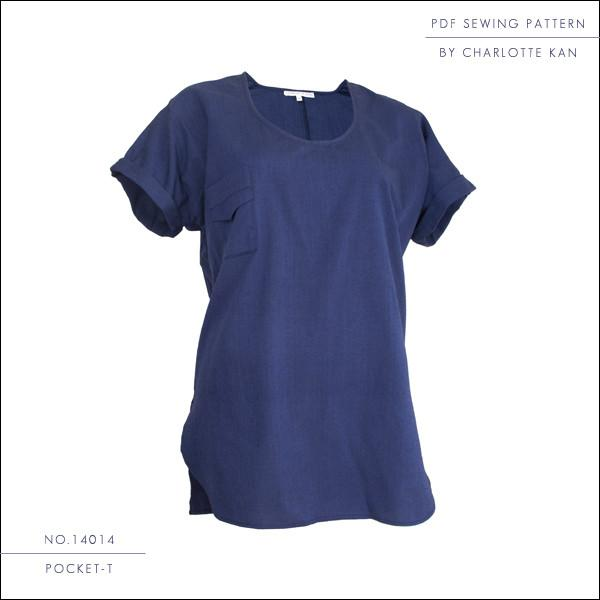 PDF Sewing Pattern - PDF Sewing Pattern - Pocket-T - For Women - easy to sew