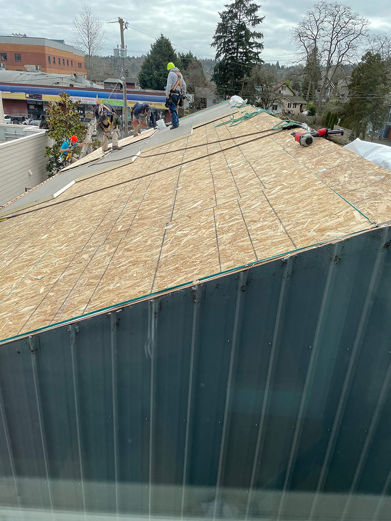 roof remodel at CG Sculpture and Jewelry studio