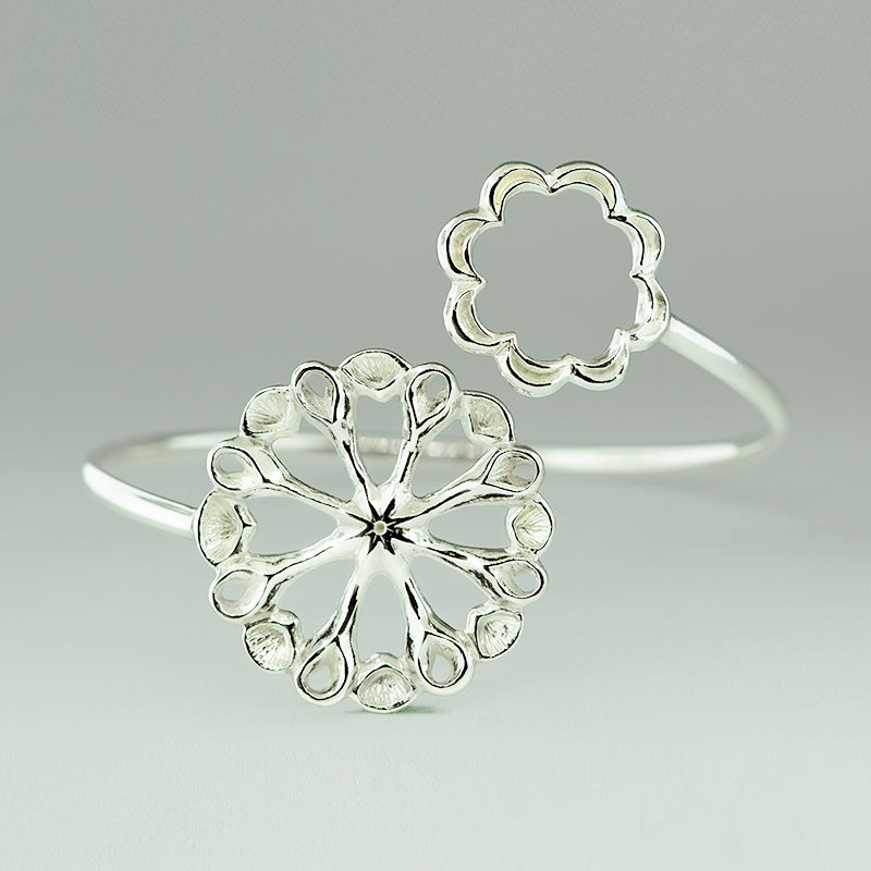 sterling silver double feature bracelet from siren collection