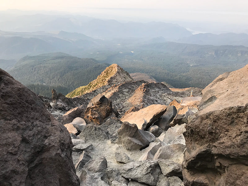 view from hike to top of Mt St Helens - inspiration for art and jewelry