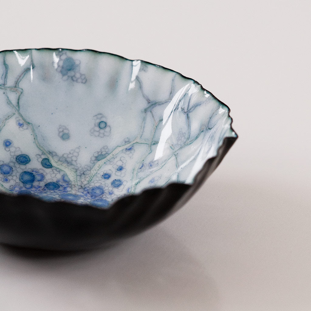 Landscape Bowl, Sapphire Blueberries Under Water
