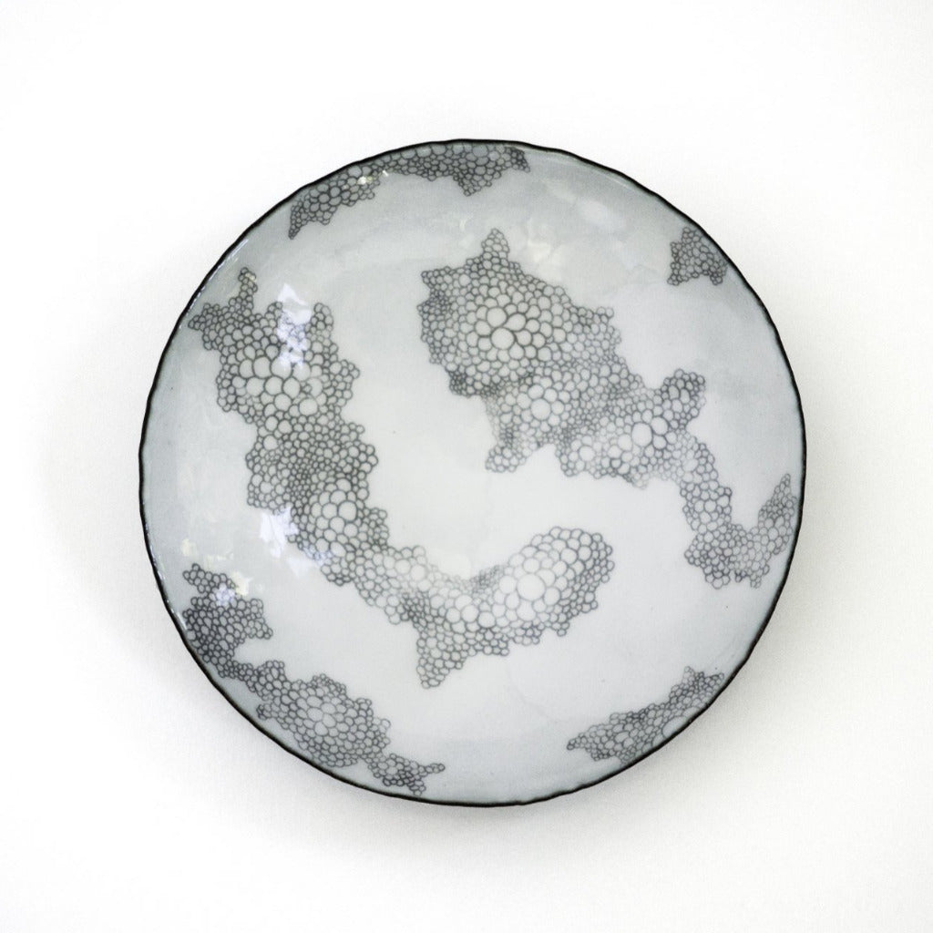Bubbles Enamelware Graphite Bowl