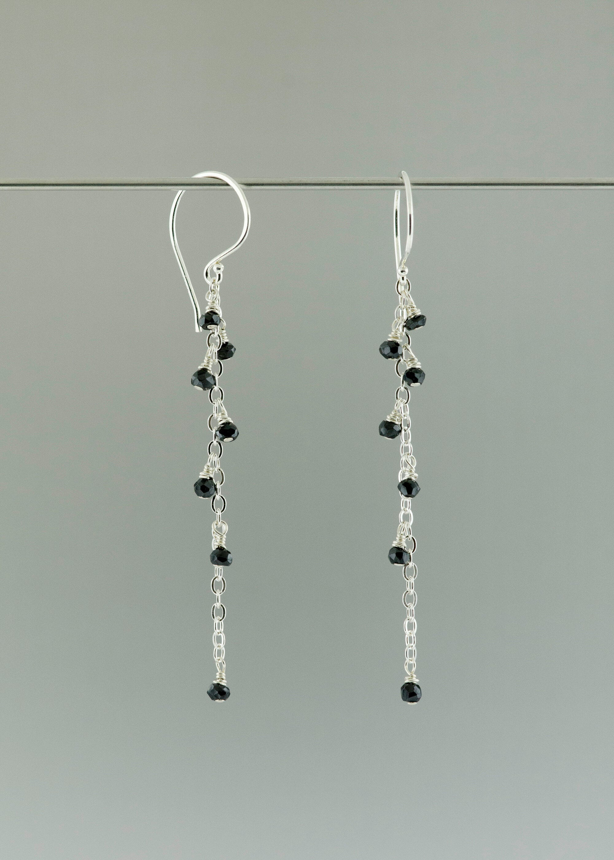 Black speckle earring