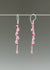 Pink gemstone dangle earrings
