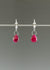 Ruby teardrop earring
