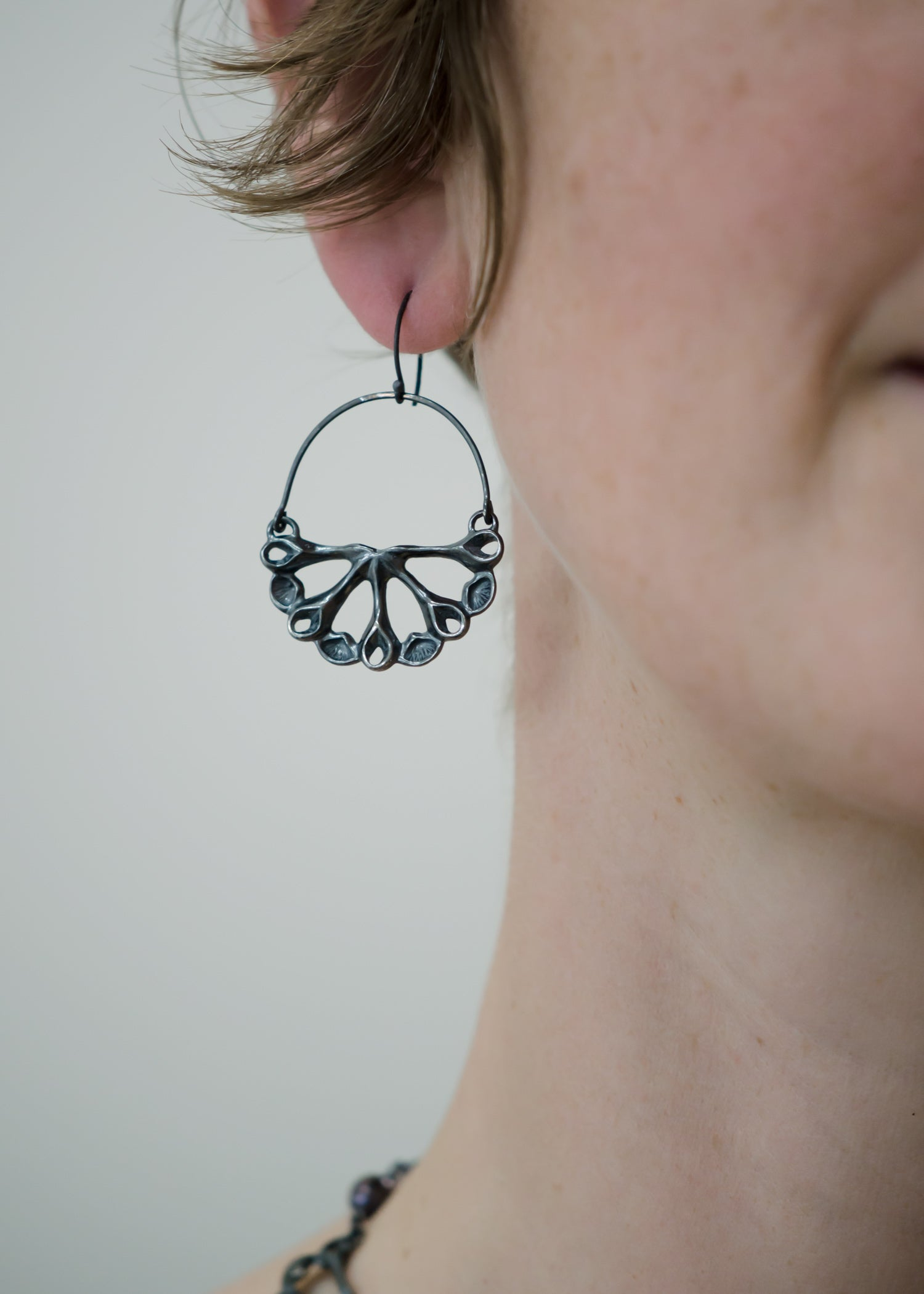 Semi-Siren Hoop Earrings