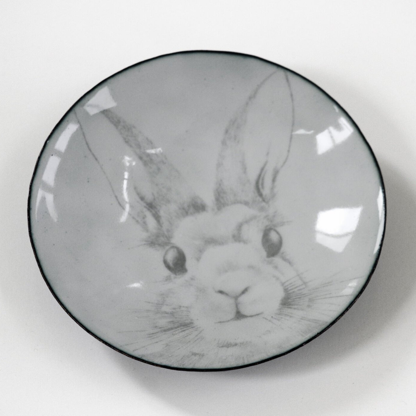 Bunny for your thoughts, enamelware bowl