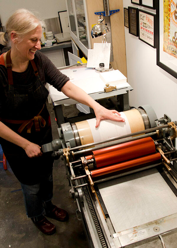 Carol Clifford, letterpress artist, custom printing card for CG Sculpture and Jewelry