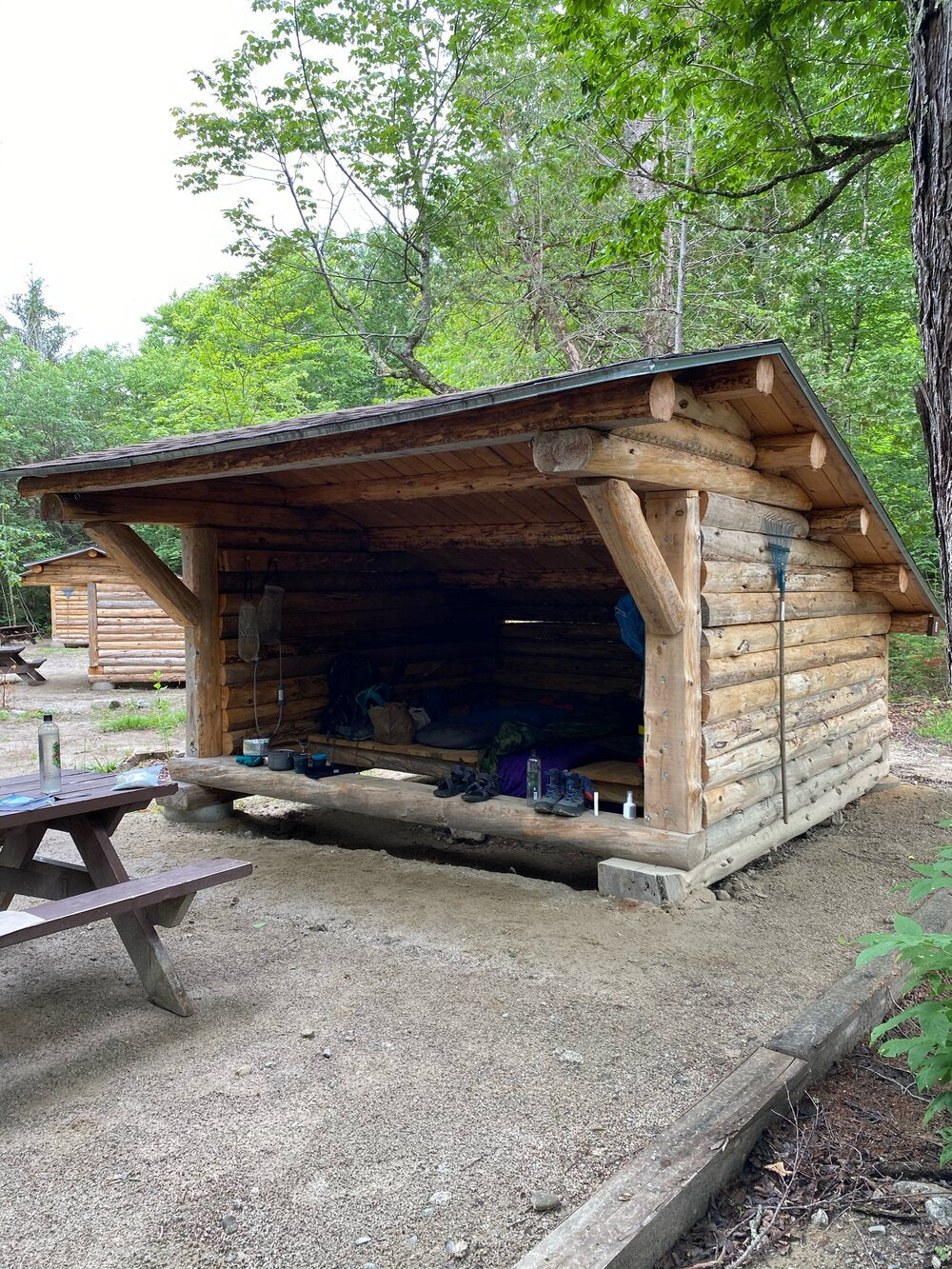 Our lean-to home for a day and night as we waited for better weather