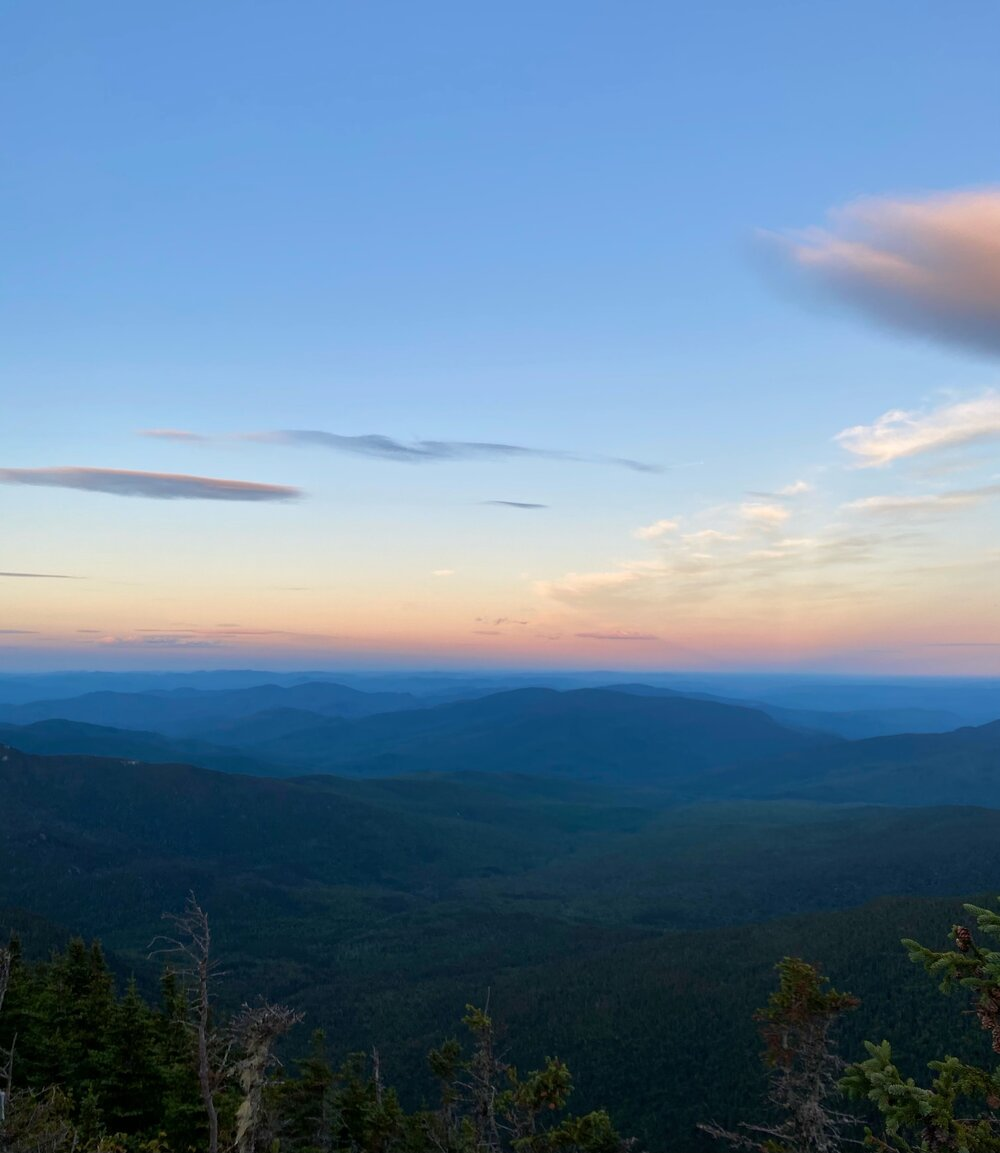 Sunset view from Carter Mountains