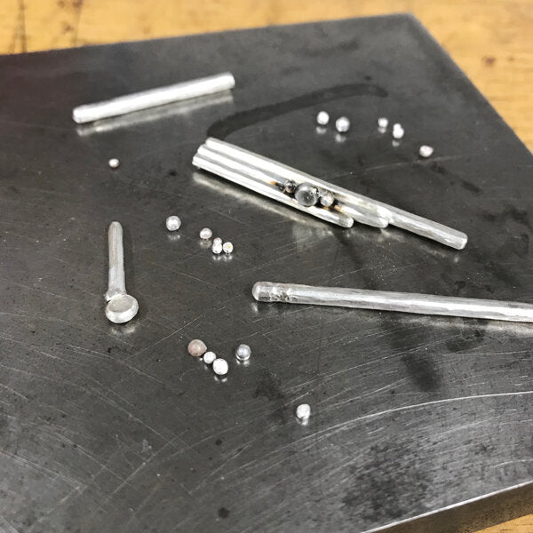 silver bits for necklace in progress