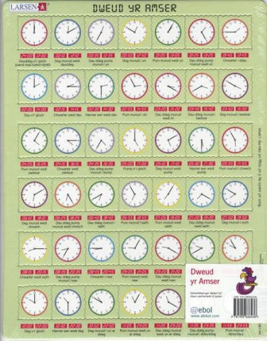 Welsh Tell the Time Jigsaw|Jig-so Dweud yr Amser