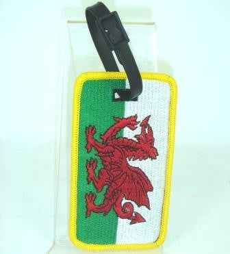 Wales Embroidered Luggage Label|Label Cymru