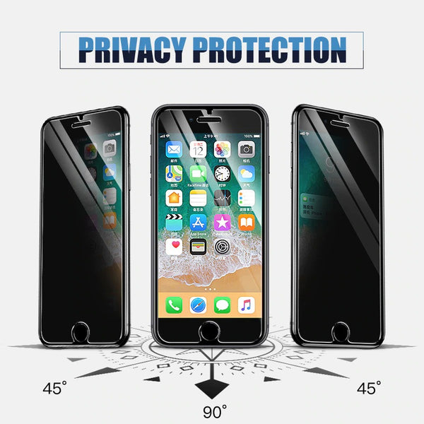 100D Anti Spy Tempered Glass for iPhone