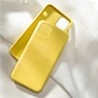 Yellow Silicone Solid Color Case for any iPhone