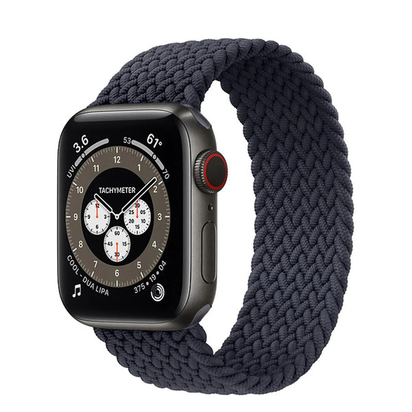Charcoal Black Braided Solo Loop For Band for any Apple Watch