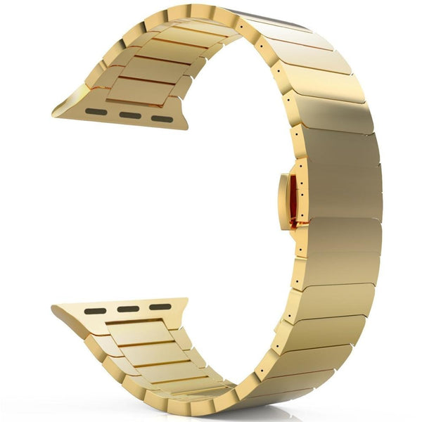 Gold Stainless Steel Strap Band for Apple Watch