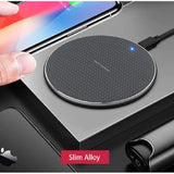 Black Slim Alloy Universal Wireless Charger