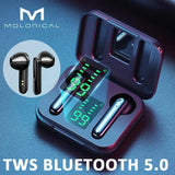 MOLO TWS Bluetooth 5.0 Wireless Sports Headphones (Black, White)
