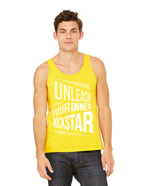 Yellow Unleash Your Inner Rockstar Unisex Tank - BollyX - 2