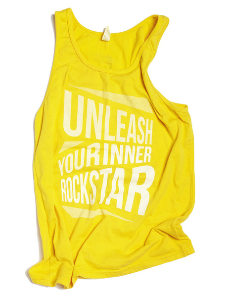 Yellow Unleash Your Inner Rockstar Unisex Tank - BollyX - 3