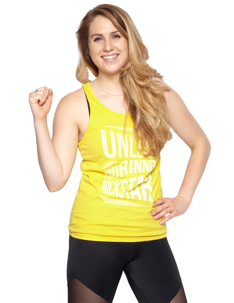 Yellow Unleash Your Inner Rockstar Unisex Tank - BollyX - 1