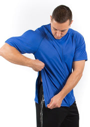 The Jim - Men's Post Surgery Zipper Adaptive Tee for Easy Dressing