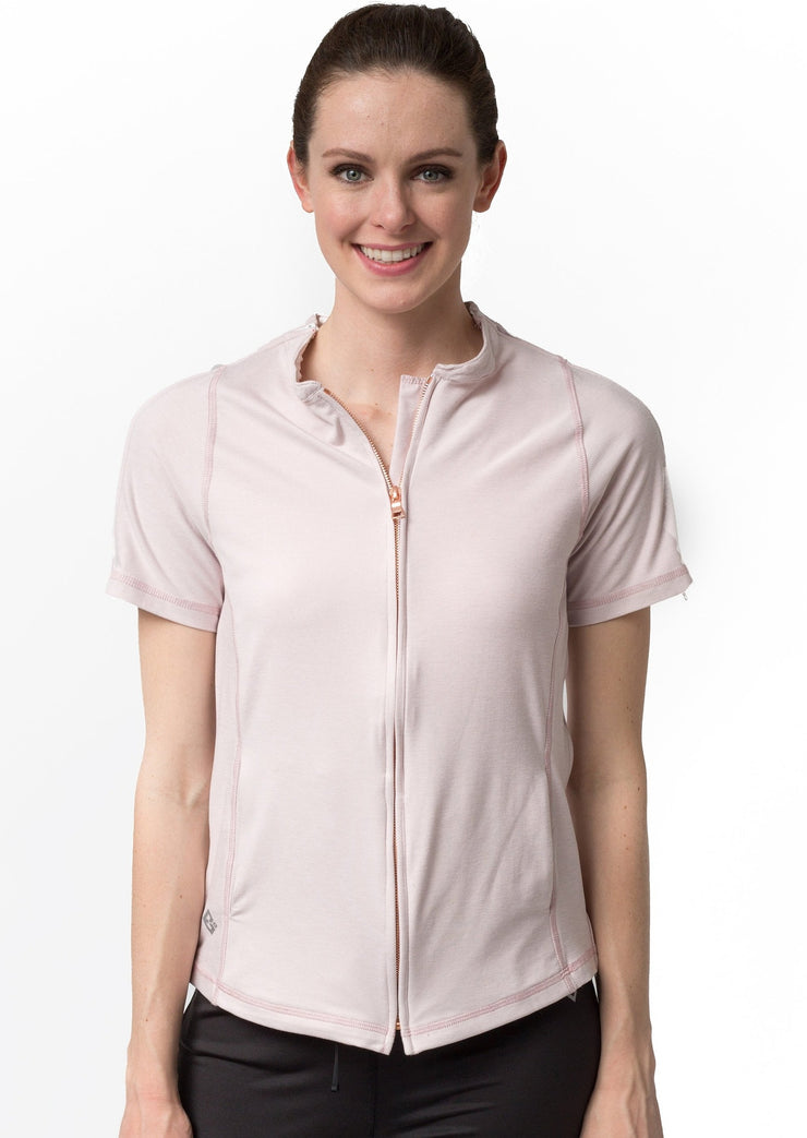 The Lindsey - Women's Easy Dressing Adaptive Post Surgery Short Sleeve Top