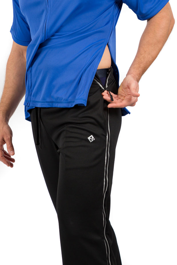 Greg - Men's Post Surgery Adaptive Pants With Zippers for Easy Dressing