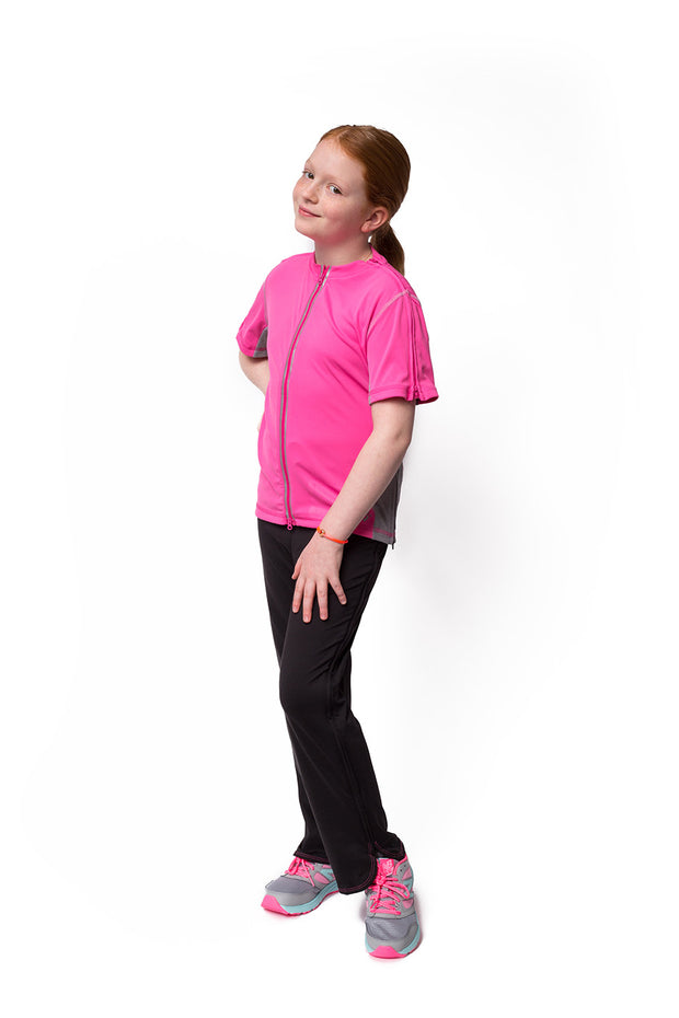 The Sophia - Girl's Easy Dressing Adaptive Athletic Short Sleeve Top
