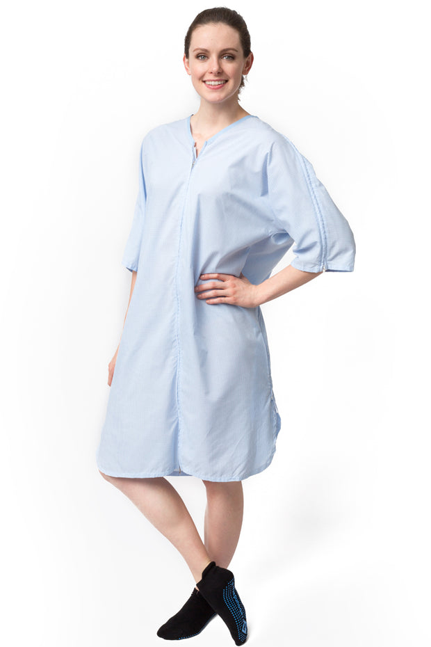 The Casey - Unisex Post Surgery Adaptive Hospital Gown