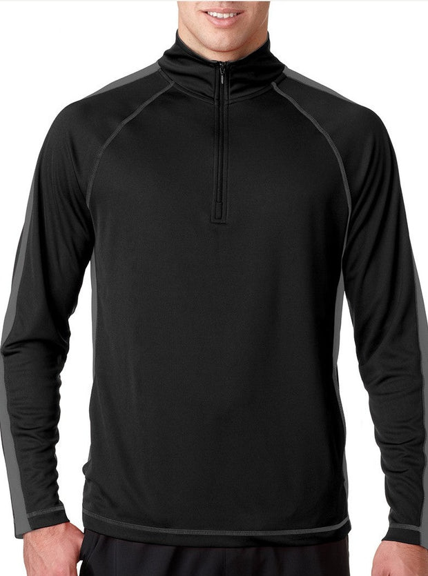The Active Long Sleeve Half Zip (also available for co-branding with Your Logo)