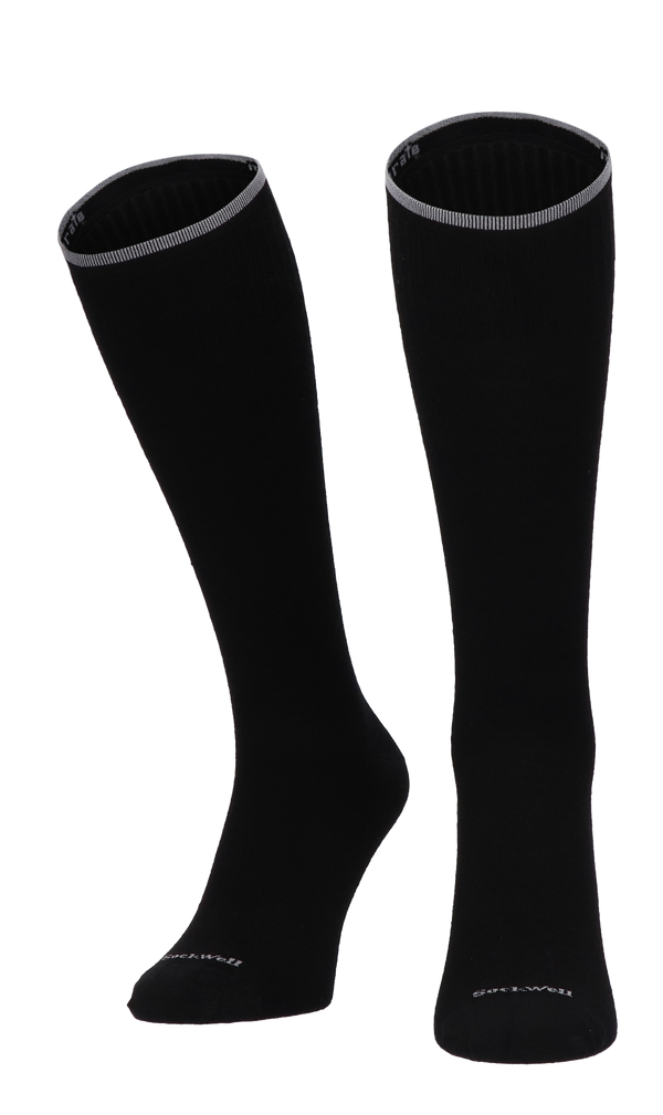 Featherweight Fancy Dames Compressiekousen Klasse 1 Black Solid