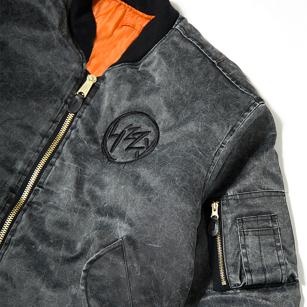 Lizzy Anarchy Bomber - Washed Grey