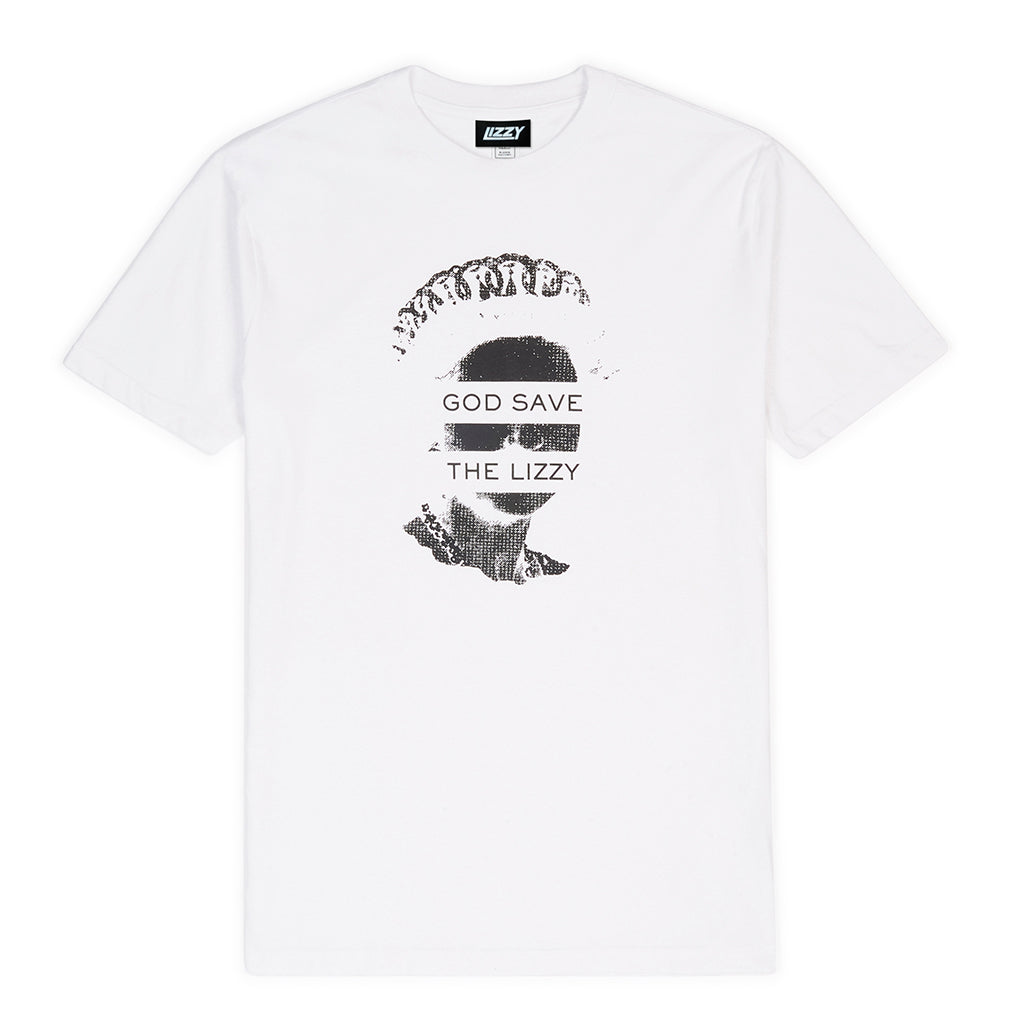 God Save The Lizzy Tee - White/Black
