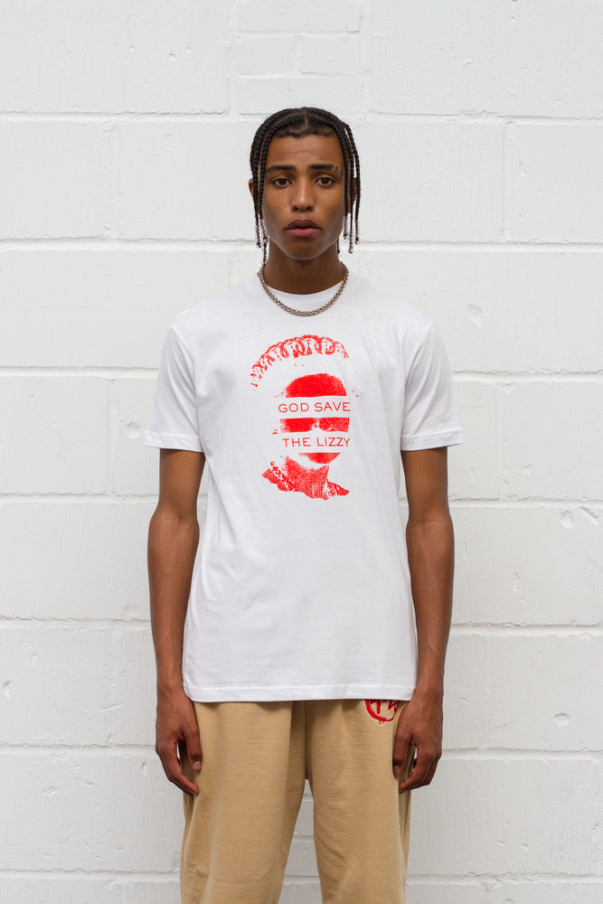 God Save The Lizzy Tee - White/Red