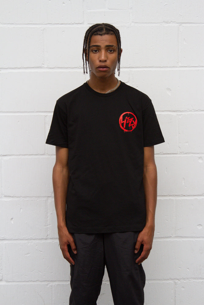 Anarchy Tee - Black/Red