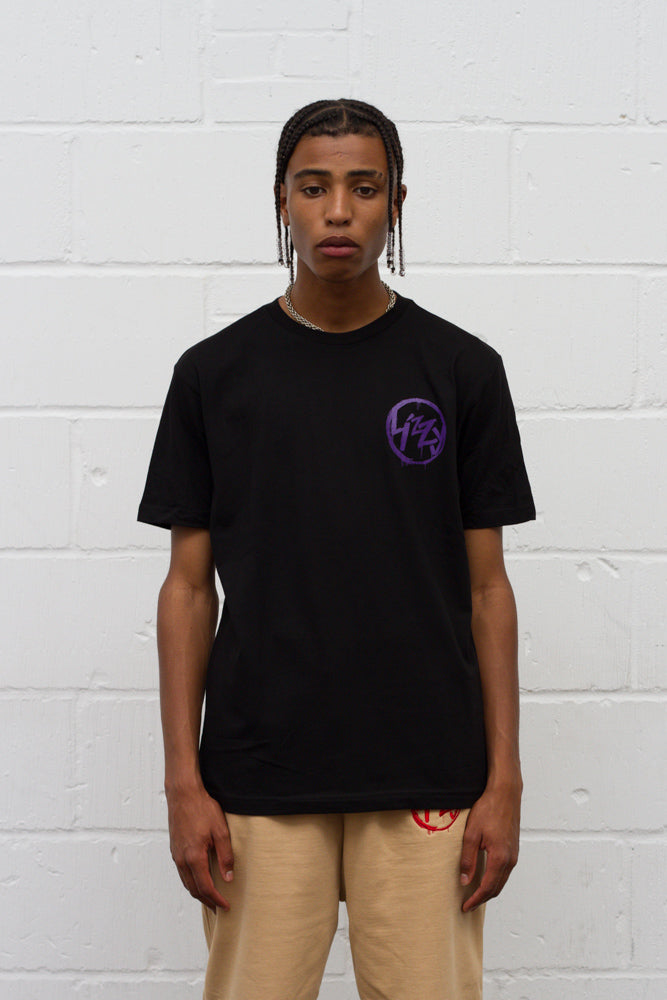 Anarchy Tee - Black/Purple
