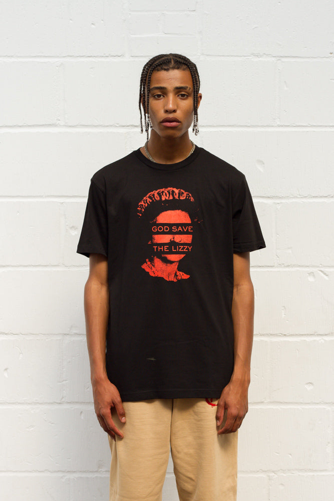 God Save The Lizzy Tee - Black/Red