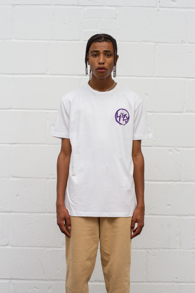 Anarchy Tee - White/Purple