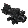 4X32 Compact Prismatic Scope with Fiber Optic BUIS- Y2001