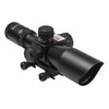 2.5-10X40 Compact Tactical Scope with Integrated Red Laser