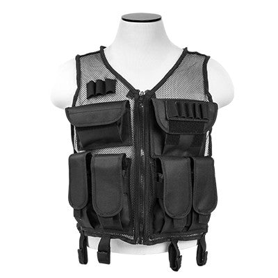 Mesh Tactical Vest - Black