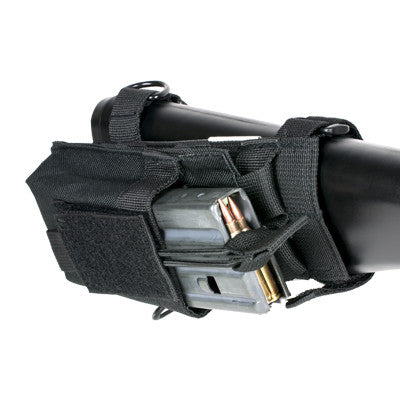 Single Mag Pouch With Stock Adapter - Black