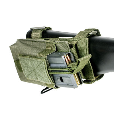 Single Mag Pouch With Stock Adapter - Green
