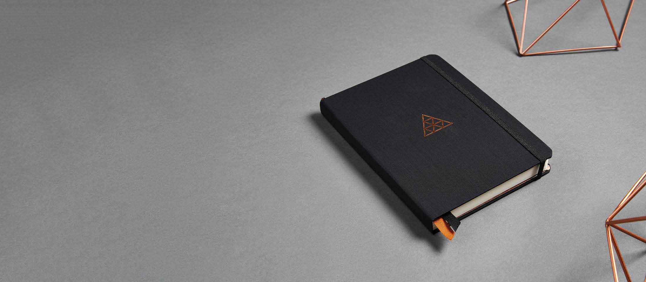 Closed black hardcover Clear Habit Journal